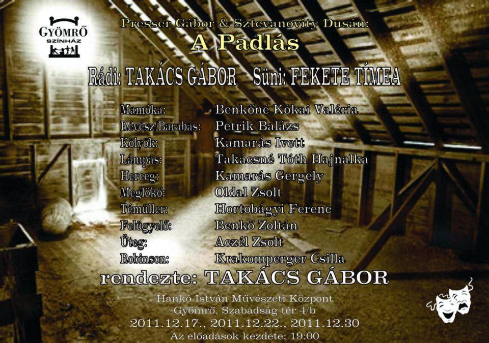 A 2011-es gyömrői előadás plakátja
